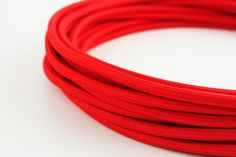 Bright red power cord