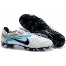 Discount Nike CTR360 Elite II FG In White Blue Black Soccer Shoes Cheap  Soccer 87bff4852576