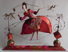 Dance with three dragons Art-doll by Lada Repina