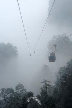 Teleférico Tianzishan, Zhangjiajie - China.