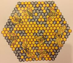 Bees From Millie Marotta Animal Kingdom Completed Using Polychromos