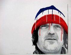 Serge Lemoyne, self-portrait Montreal Canadiens, Hockey Teams, Portrait, Image, Paint, Artists, Portrait Illustration, Portraits, Head Shots