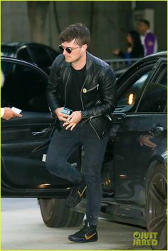 Josh Hutcherson at Kobe Bryant's last game at The Staples Center in Los Angeles on April 13, 2016.