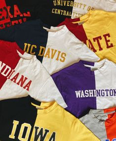 Shop cute and trendy college tops! Tube tops, fashion tees, tailgate skirts, cute college sweatshirts perfect for game day or everyday! College Shirts, College Outfits, College Apparel, College Sweatshirts, College Closet, Half Shirts, Cool Shirts, Tee Shirts, School Shirt Designs