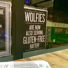 Be Gluten Free - Brighton : Gluten Free Fish & Chips @ Wolfies of Hove