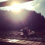 #boat #sunset #lake