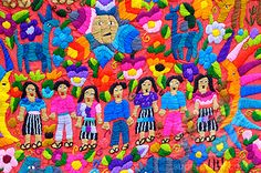 Guatemalan embroidered piece ~ reminds me of the tapestry Jackie brought back from our side trip to Guatemala while on our medical mission to Belize