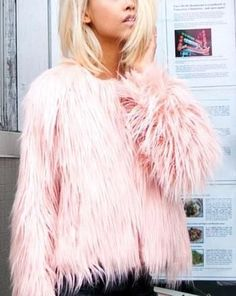 Pink Furry Coat.