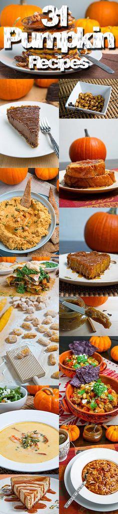 31 Pumpkin Recipes