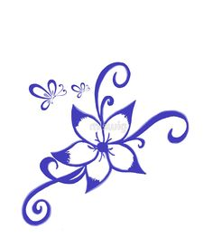 'Purple Hawaiian Flower' Mini Skirt by mlswig Rose Tattoo Stencil, Henna Stencils, Easy Love Drawings, Dope Tattoos For Women, Flower Art Drawing, Tattoos With Kids Names, Homemade Christmas Decorations, Stationeries, Language Of Flowers