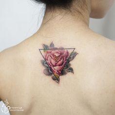 peony tattoo on the back