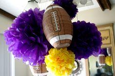 Football party decorations #football
