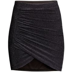 (9) #SALE Draped Skirt - Black Shop the #SALE at #H&M | F A S H I O N... ❤ liked on Polyvore featuring skirts, h&m skirts and draped skirt