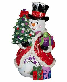 Christopher Radko Cookie Jar, Stately Snowman - Holiday Lane - Macy's