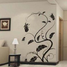 Funny And Colorful Tree Butterfly Wall Stickers Decals Art For