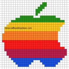 Minecraft Pixel Art Templates: Apple Logo