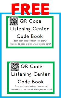 Portable QR Code Listening Center (Welcome to The Schroeder Page! Learning Stations, Literacy Stations, Reading Resources, Teaching Reading, Guided Reading, Listening Station, Listening Centers, Listen To Reading, Kindergarten Books