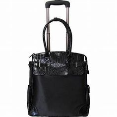 Shop for Amerileather Deluxe Skylar Women's Rolling Tote with Laptop Compartment. Get free delivery On EVERYTHING* Overstock - Your Online Luggage Store! Rolling Laptop Bag, Rolling Bag, Carry On Tote, Best Carry On Luggage, Luggage Deals, Luggage Store, Laptop Stand, Laptop Backpack, Laptop Bags