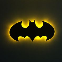 This! Batman logo wall light is needed for my man cave