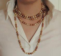 097af87005a1 Las 37 mejores imágenes de Collares de perlas