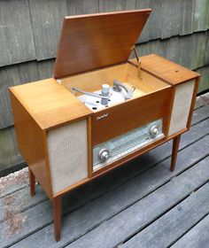 Rare SABA Console Stereo-idea for your tv-if you can't find one you like. Thinking something retro midcentury fun-lsm