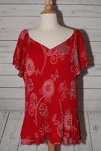 New Dressbarn Sz 3X Pleated Ruffled Butterfly Floral Dress Top Blouse Shirt | eBay