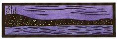 Hillside Lights - Sarah Angst Fine Artist & Printmaker Original Print - Inspired by the view of Duluth, Minnesota at night along Lake Superior.