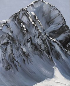 Powerful Paint Strokes Capture the Essence of Mountains - by Swiss painter Conrad Godly