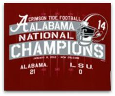 RTR!! So proud to be a Bama fan! I lived in Tuscaloosa for 15 years!!!