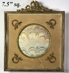 """Antique French Dore Bronze 7.5"""" Square Easel Back Bow Top Frame, Appliqués and Silk Bow Tops, Antique Frames, Old Things, Things To Sell, Old Ones, Paper Cover, Easel, View Image"""