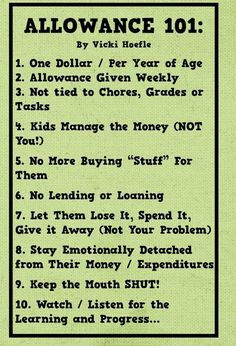 I like this allowance chart because it does not involve chores. Family chores should be required, then some jobs could pay as a way to make extra money. Chores And Allowance, Allowance For Kids, Allowance Chart, Parenting Advice, Kids And Parenting, Parenting Quotes, Single Parenting, Peaceful Parenting, Parenting Websites
