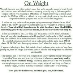 Ideal weight and why bmi is bullshit