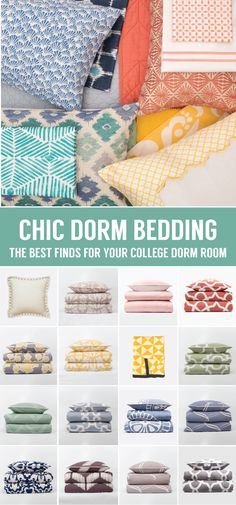 From chic bedding and colorfully patterned duvet covers, find the perfect twin and twin xl bedding that fits your college dorm room style. Named the best site for college bedding by Racked.