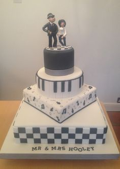 Ska themed wedding cake