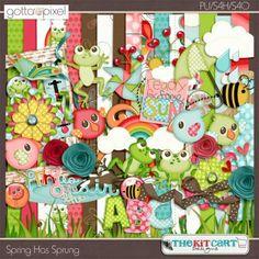 Spring Has Sprung Digital Scrapbook Page Kit
