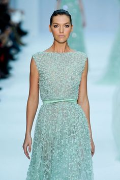 Beaded gown from Elie Saab Haute Couture spring/summer 2012 collection.