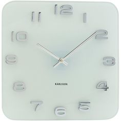 Vintage Square White Wall Clock 35cm