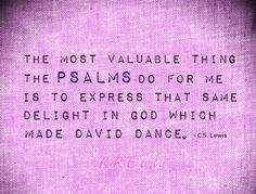 CS Lewis quote on the Psalms