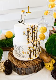 Where the wild things are cake stand. Hmm. This wood cake stand is a possibility. Will it go with the crystal and silver?