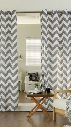Shop for Aurora Home Velvet Chevron Print Grommet Top 84 Inch Curtain Panel Pair - x Get free delivery On EVERYTHING* Overstock - Your Online Home Decor Outlet Store! Grey Chevron Curtains, Modern Curtains, Gray Chevron, Grommet Curtains, Panel Curtains, Velvet Curtains, Curtain Sets, Home Decor Outlet, Home Goods