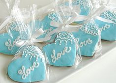 Indian Wedding Inspirations: Blue Wedding Cookies. Repinned by #indianweddingsmag IndianWeddingsMag.com                                                                                                                                                      More