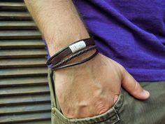 Boho bracelet, Men's Bracelet , mens leather bracelet , mens bracelet , genuine leather , Men's Jewelry ,Bracelets For Men , wrap bracelet by leatheristanbul on Etsy