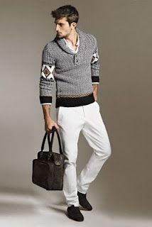 Love the sweater and the whole look.  Zara Man