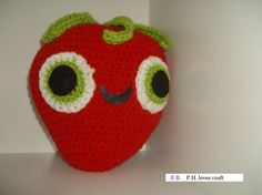Strawberry crochet plush inspired by cloudy with a by PHLovesCraft