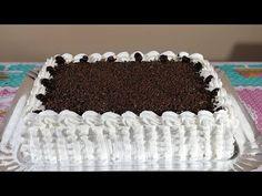 BOLO FLORESTA BRANCA TRUFADO   PASSO A PASSO E FINALIZAÇÃO - YouTube Happy Birthday Chocolate Cake, Birthday Cake, Beautiful Cakes, Amazing Cakes, Easy Cake Decorating, American Food, Cake Designs, Tiramisu, Icing