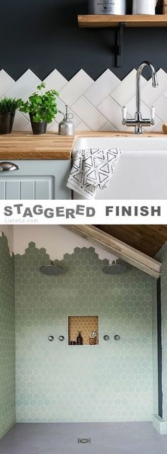 nice   Staggered tile finish  Read More by Xanaboldsen  #Finish, #Staggered, #Tile