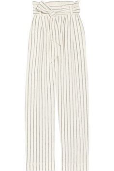 7030605ef18 By Malene Birger - Ginas Striped Cotton-terry Wide-leg Pants - Off-white -  medium