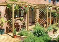 garden decking and pergola