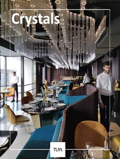 Beautiful interior design by Twins Studio. Most visit place in Vienna - TUYA Restaurant.