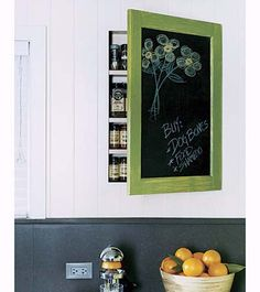 I like this idea for chalkboard, or a picture!     Photo: Gregg Segal | thisoldhouse.com | from Kitchen Before and After: An Affordable, Modern Makeover Opens Up a Cramped, Dated Space